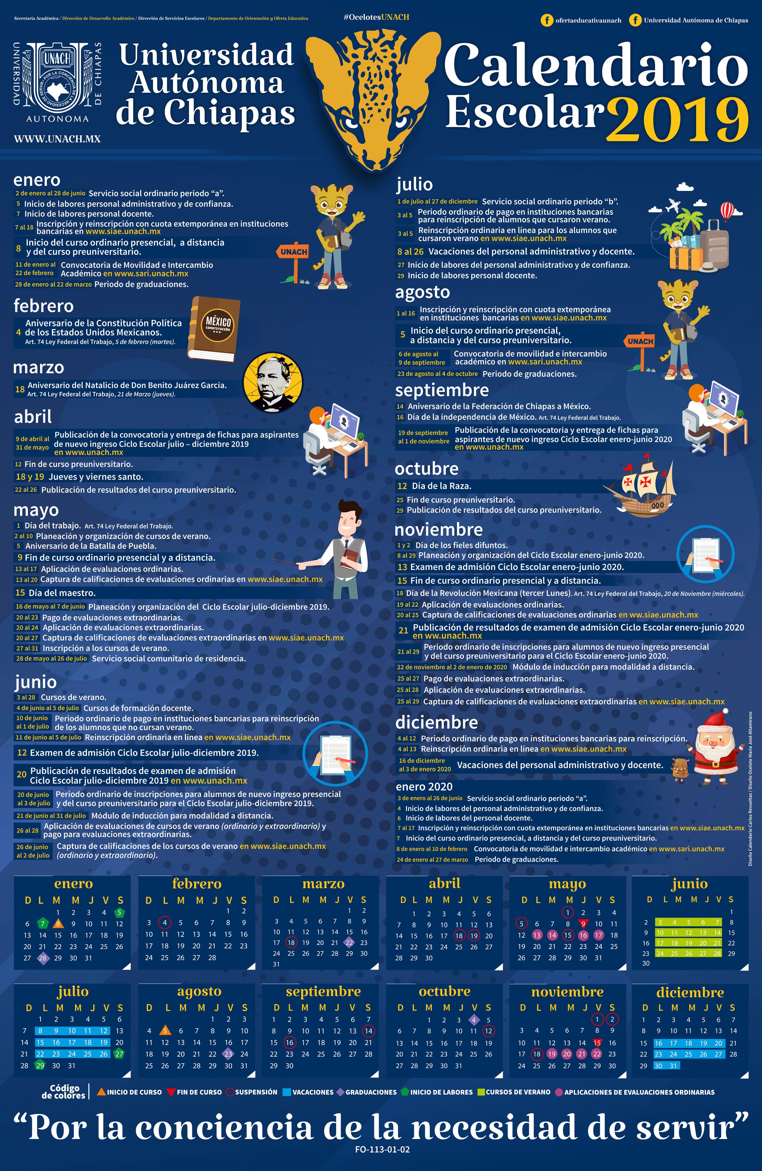 Calendario 20017.Calendario Escolar 2019