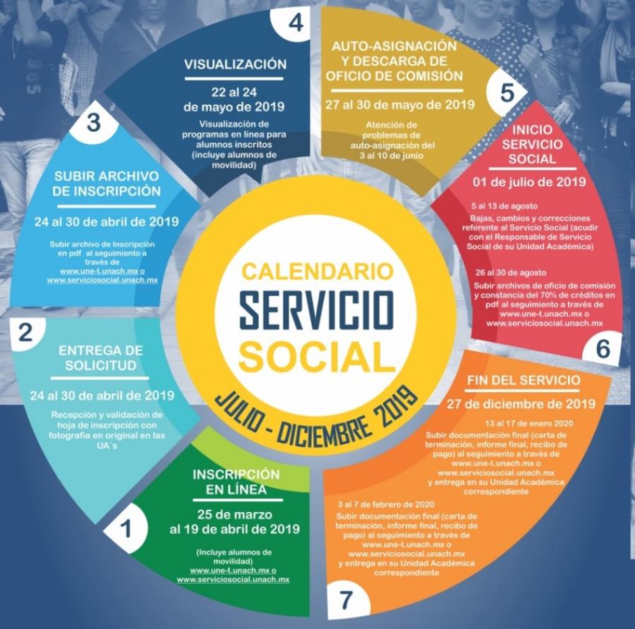 Convocatoria servicio social, julio-diciembre 2019