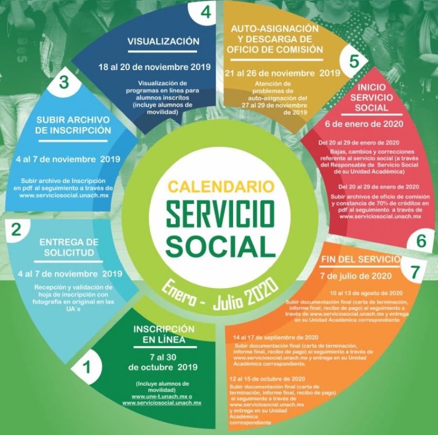 Convocatoria servicio social, enero-julio 2020