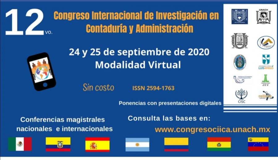 12vo. Congreso Internacional de Investigación en Contaduría y Administración- Modalidad Virtual