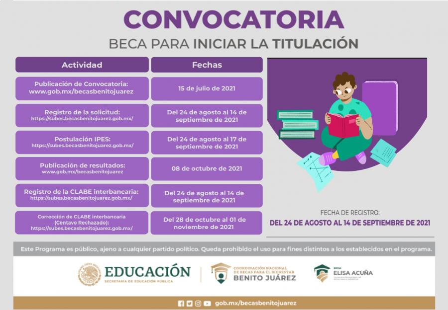 CONVOCATORIA- BECA PARA INICIAR LA TITULACIÓN
