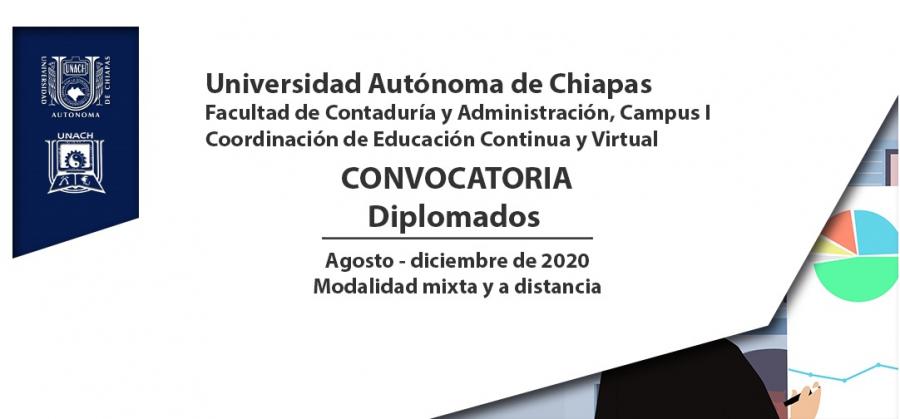 Convocatoria Diplomados, agosto-diciembre 2020