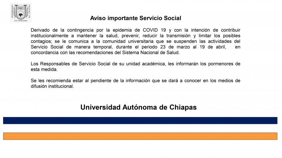 Aviso-Servicio Social